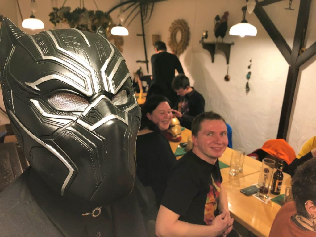 Black Panther beim Marvel Dinner Berlin